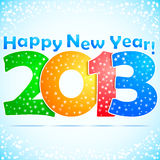 Happy New Year 2013 Background. With snow Royalty Free Illustration
