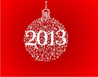 Happy new year 2013 balls. Christmas balls on a background Royalty Free Illustration