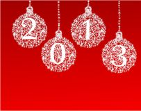 Happy new year 2013 balls. Christmas balls on a background Vector Illustration