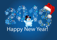 Happy new year 2013. Blue background. For your design vector illustration