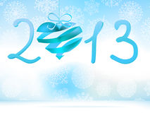 Happy New Year 2013 blue.  + EPS8 Stock Images