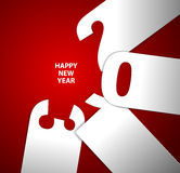 Happy New Year 2013 card. Red and white Happy New Year 2013 card vector illustration