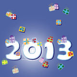 Happy new year 2013 card Stock Photography