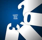 Happy New Year 2013 card. Blue and white Happy New Year 2013 card stock illustration
