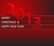 Happy New Year 2013 card. Red Happy New Year 2013 card stock illustration