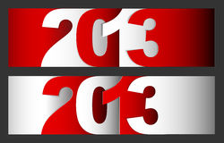 Happy New Year 2013  card. Original Vector New Year 2013 card / illustration with place for your text Stock Photo