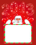 Happy new year 2013. Christmas. Santa Claus. For your design Royalty Free Stock Photography