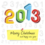 Happy new year 2013, colorful design. Happy new year 2013 typography design Stock Image