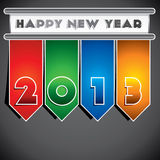 Happy new year 2013 creative design Stock Photos