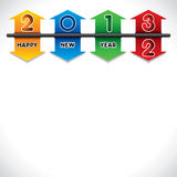 Happy new year 2013 creative design Royalty Free Stock Photo