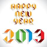Happy new year 2013 creative design Stock Image