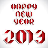 Happy new year 2013 creative design Royalty Free Stock Photos