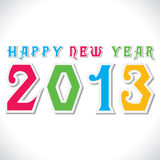 Happy new year 2013 creative design. Stock vector royalty free illustration