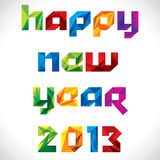 Happy new year 2013 creative design Stock Photo