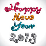 Happy new year 2013 creative design. Stock vector stock illustration
