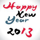 Happy new year 2013 creative design Stock Photography