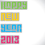 Happy new year 2013 creative design. Stock vector illustration