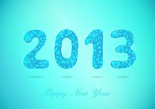Happy New Year 2013 glossy background Stock Photos