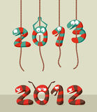 Happy New Year 2013 greeting card Stock Photography