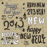 Happy New Year 2013 grunge text. New year greeting design with words Happy New Year 2013 vector illustration