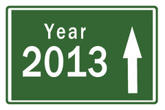 Happy New Year 2013 Highway Board Royalty Free Stock Photo