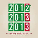 Happy new year 2013 mechanical timetable count sty Royalty Free Stock Photography