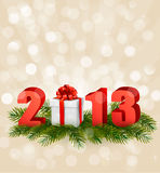 Happy new year 2013! New year design template. Vector illustration Royalty Free Stock Photography