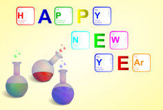 Happy New Year 2013 Sciene style Royalty Free Stock Photos