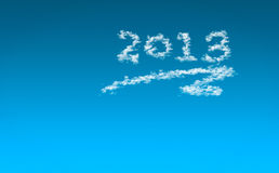 Happy New Year 2013 / Sky with clouds 2013 Stock Photo