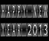 Happy New Year 2013 terminal. Happy New Year 2013 Set of letters and numbers on a mechanical timetable terminal  illustration Royalty Free Stock Images