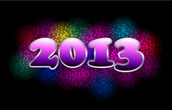 Happy New Year 2013 Vector. Happy New Year 2013 colorful mosaic Vector Royalty Free Stock Photo