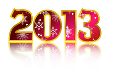 Happy New Year 2013 Vector. New year 2013 card with reflection Vector Stock Photo