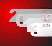 Happy New Year 2013 vector card. Blue and white Happy New Year 2013 vector card stock illustration