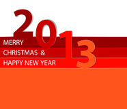 Happy New Year 2013 vector card. Red Happy New Year 2013 vector card Stock Image