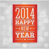 Happy new year 2014. Vector Royalty Free Stock Image