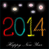 Happy new year 2014. It is photo of celebration of coming new year 2014, created in illustrator CS5. Individual layer are created for easy use Royalty Free Stock Image