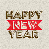Happy new year 2014. Over pattern background vector illustration royalty free illustration