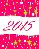 Happy new year 2015. Background Stock Photography