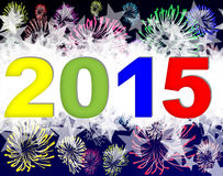 Happy new year 2015. Background Stock Images