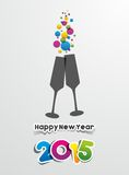 Happy New Year 2015 Greeting Card. Vector illustration Vector Illustration