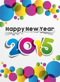 Happy New Year 2015 Greeting Card Royalty Free Stock Image