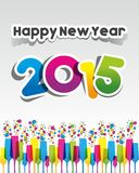 Happy New Year 2015 Greeting Card Stock Photo