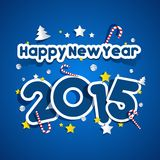 Happy New Year 2015 Greeting Card Royalty Free Stock Photography