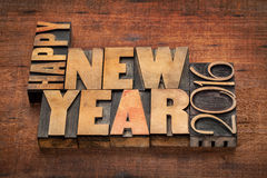 Happy New Year 2016 Greetings Stock Image