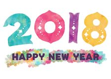 Free Happy New Year 2018 Stock Photography - 103274242