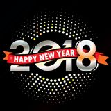 Happy New Year 2018 Colorful Royalty Free Stock Image