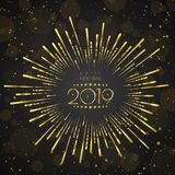 Happy New Year 2019 . Greetings Card. Colorful Design. Vector Illustration Stock Images