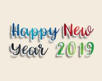 Happy New Year 2019. Greetings Card. Colorful Design. Vector Illustration Royalty Free Stock Image