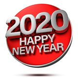 Happy New Year 2020 3D.2020 3d. Royalty Free Stock Images