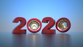 Free Happy New Year 2020,3D Rendering Stock Photos - 161179053